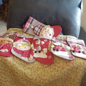 6 Christmas stockings